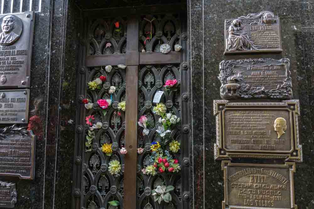 Evita no Cementerio de la Recoleta