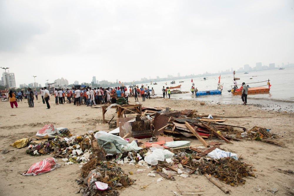 Praia Girgaum Chowpatty - Mumbai, Índia
