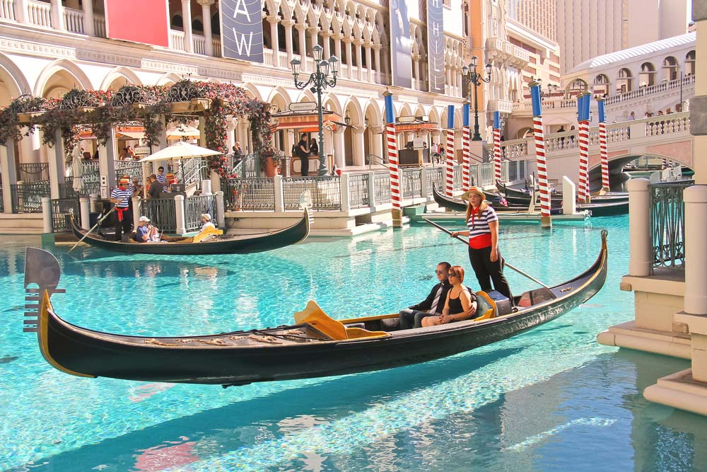 Hotel Venetian e Passeios de Gôndola